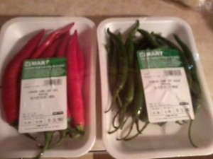 Red/Green Chinese Chili's at HMart